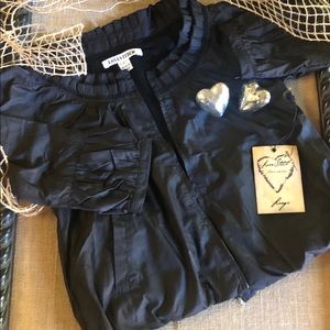 NWT Love Stitch Black Lightweight Jacket. Size L